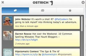 Ostrich: A Twitter extension for Safari