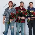 Group of guys delivers Valentine's Day flowers to single women, widows and military wives