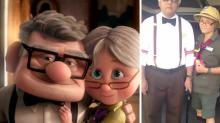 Adorable pareja de adultos mayores conmueve a las redes con sus peculiares disfraces