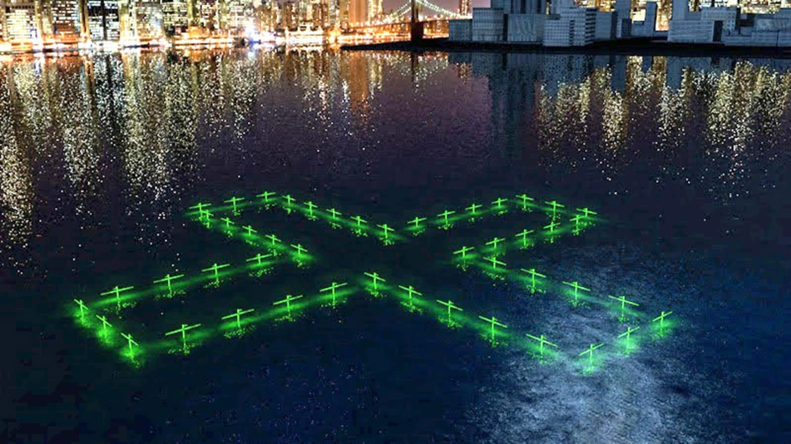 Floating LED art illustrates the quality of NYC's water | Engadget