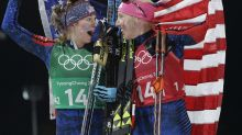 U.S. women's ski sprint team wins gold, its first-ever medal in the event