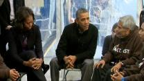 Raw: Obama Visits Immigration Activists on Mall