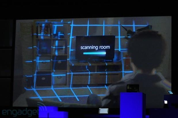 Microsoft and Samsung demo Illumiroom display, fill room with images (video)