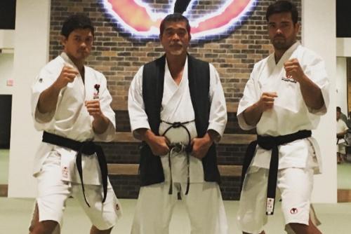 Chinzo Machida ao lado do pai e de seu irmão, Lyoto Machida - Reprodução/Instagram
