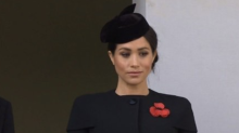 Meghan Markle Wears a Black Coat to Mark the First World War Centenary