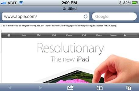 Security Alert: Safari for iOS 5.1 reportedly vulnerable to address bar spoofing