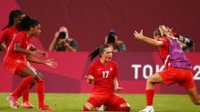 Canada shock USA to reach Olympic women's football final