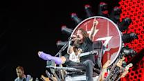 Dave Grohl Rocks Out Atop Custom-Made 'Game of Thrones'-Style Throne