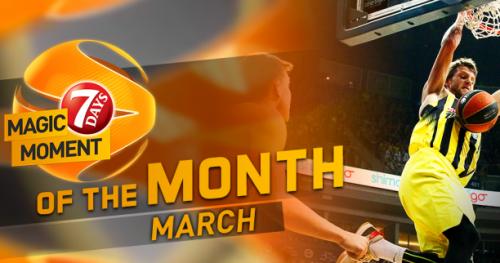 Basket - Euroligue - Euroligue : Vous avez élu l'action du mois de mars