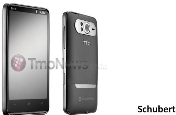 HTC HD7 (aka Schubert) pictured in glorious monochrome, headed to T-Mobile for $200?