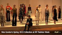 Wes Gordon's Spring 2013 Collection at New York Fashion Week