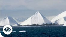'Man-made pyramids' discovered on Antarctica