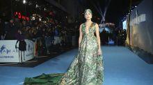 "Amber Heard kommt in Luxus-Badekappe zur ""Aquaman""-Premiere"