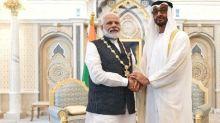 "Watch: PM Modi honoured with UAE's highest civilian award ""Order Of Zayed"""