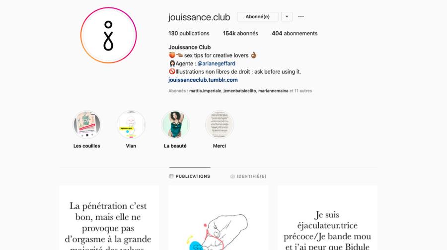 Jouissance Club, le compte Instagram pour des amants créatifs