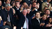 Sir Alex Ferguson given rapturous welcome on return to Old Trafford