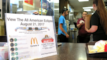 McDonald's is giving workers a break to watch the solar eclipse — but only for 3 minutes
