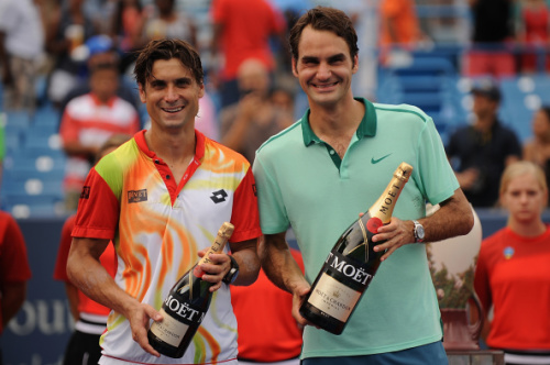 David Ferrer and Roger Federer