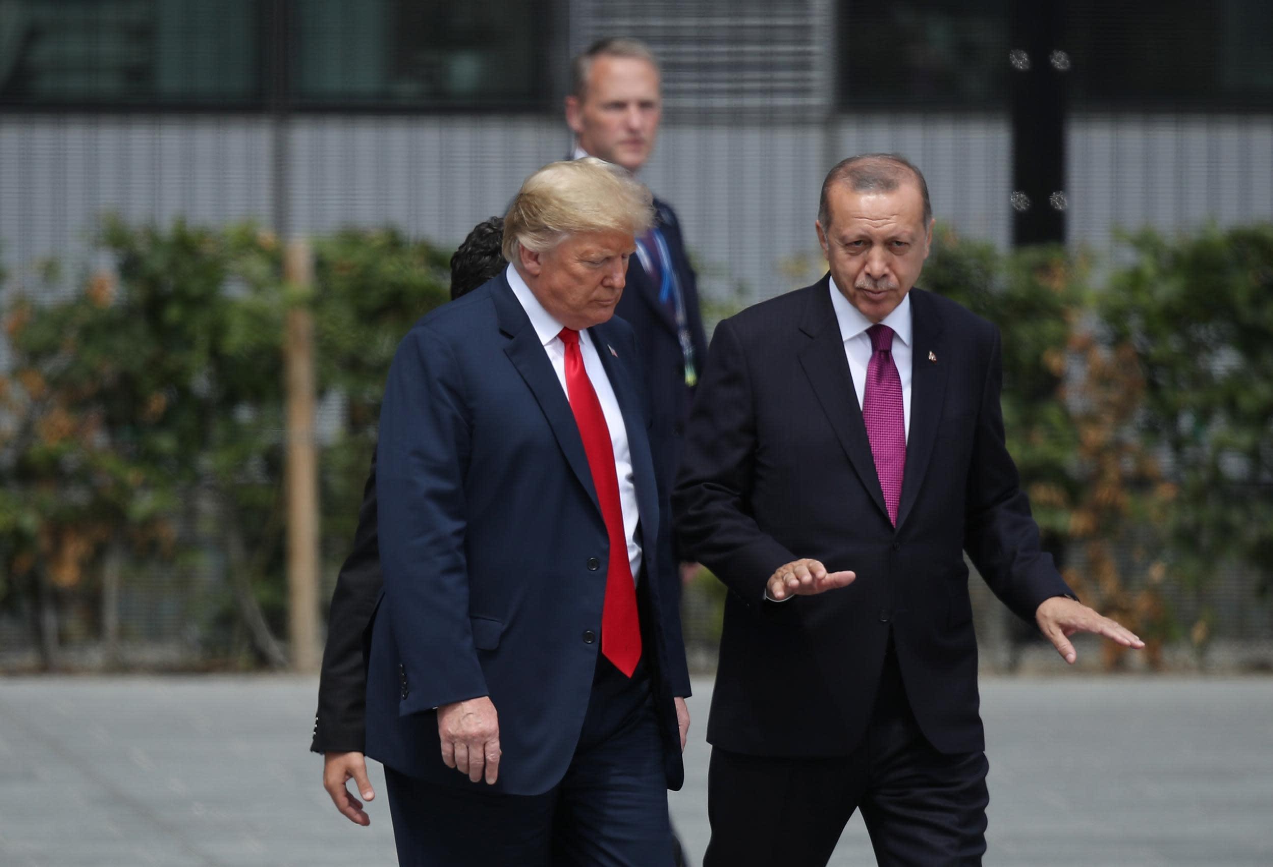 Trump doubles steel and aluminium tariffs on Turkey amid row over detained US pastor