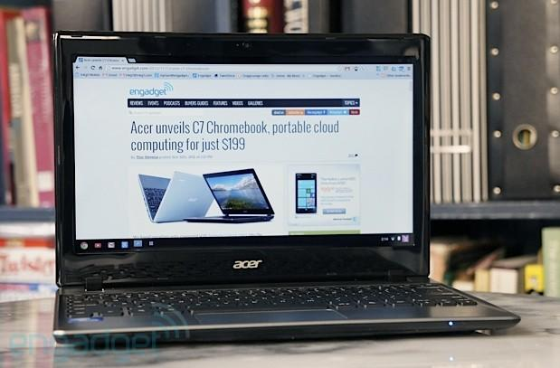 Acer now selling C7 Chromebook with more battery life and memory for $280