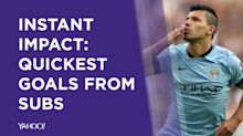 Instant impact: Quickest goals from subs