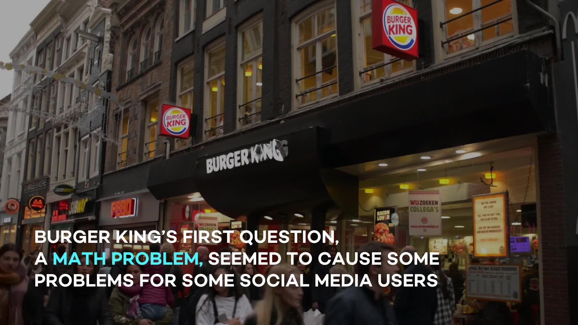 Burger King Is Giving Away Free Whoppers If They Can Pass A Images, Photos, Reviews
