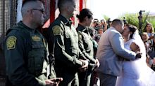 Mexican Bride Marries American Groom During Rare Opening Of Border Gate