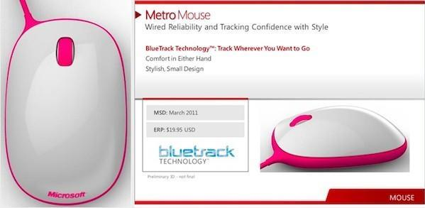 Microsoft Metro mouse leaks out, promises BlueTrack for $20