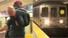 Homeless Man Chases Away Anti-Asian Harasser on NYC Train as Bystanders Watched