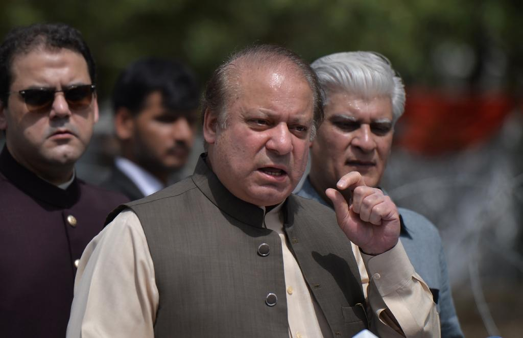 Pakistan's Prime Minister Nawaz Sharif has been ousted from the premiership for the third time (AFP Photo/AAMIR QURESHI)