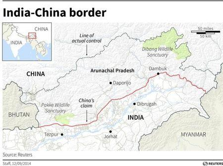 With eye on China, India to develop disputed border region China Border With India Map on india china boundary map, spain border map, india border changes, russia border map, australia border map, france border map, pakistan border map, western chinese border map,