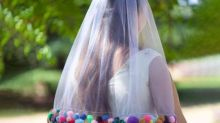 Bonkers detail on bride's wedding veil roasted: 'That's tacky'