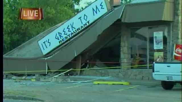 Driver plows into Tulsa restaurant causing roof collapse