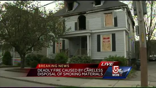 Careless smoking blamed for fatal BU house fire