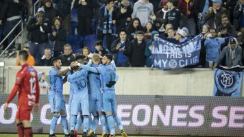 NYCFC advances as stadium issues simmer
