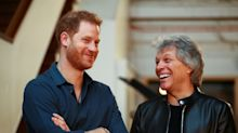 Prince Harry joins rock royalty Jon Bon Jovi at Abbey Road studios