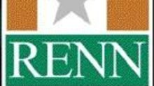 RENN Fund, Inc. Announces Receipt of Proceeds from Petrohunter Energy Corporation