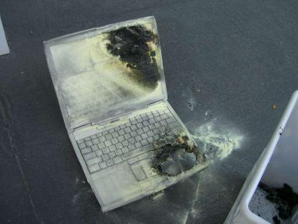 Another Dell laptop ignites