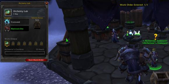 Warlords of Draenor Alpha: Work orders