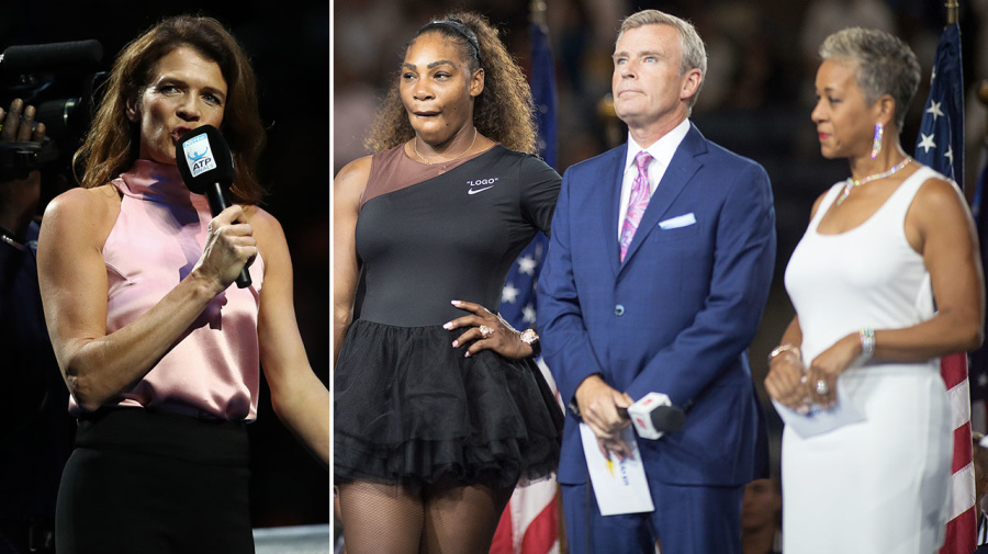 Tennis host smacks down crowd, shows US Open how it's done