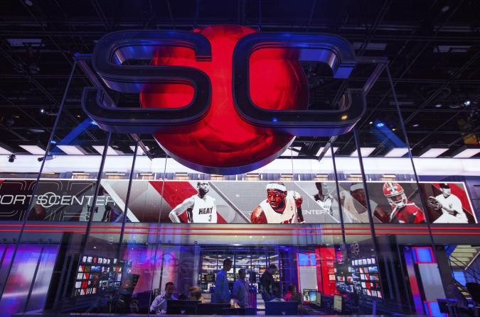 Digital Center 2, a new 194,000 sq. ft  building on the ESPN campus in Bristol, Connecticut May 22, 2014 will be the new home of SportsCenter beginning June 2014.  The facility includes 5 broadcast studios, 6 production control rooms, 4 audio control rooms and 16 edit suites. REUTERS/Michelle McLoughlin (UNITED STATES - Tags: SPORT SCIENCE TECHNOLOGY MEDIA)