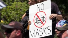 Antimaskers turn to mesh, crochet and lace to boycott face covering requirements
