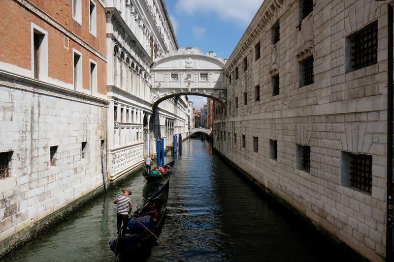 FILE PHOTO: Outbreak of the coronavirus disease (COVID-19), in Venice