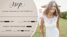 Bride-to-be slammed for foul-mouthed wedding invitation