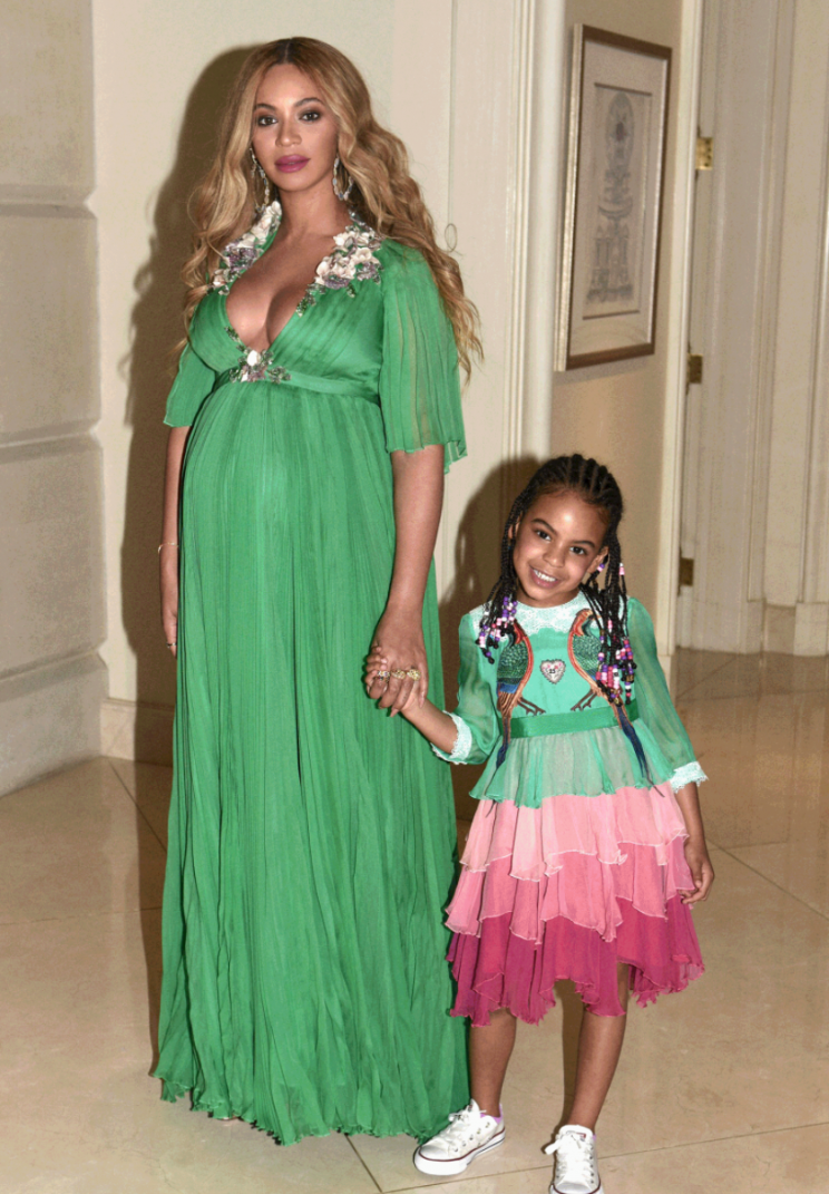 Beyonce dresses Blue Ivy in £13,000 Gucci gown [Video]