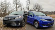 2019 Toyota Sienna AWD vs 2018 Chrysler Pacifica Hybrid   New meets old