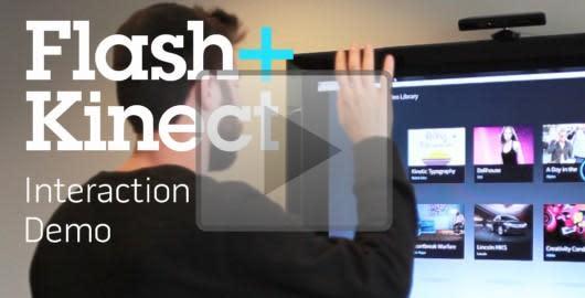 Kinect Hacks: Flash, HTML, Unity and Silverlight integration