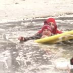 Man rescued from icy pond after risking life to save his dogs in Delaware