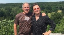 Bono hangs out with George W. Bush at his Texas ranch