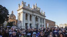 """A Roma """"piazza piena"""" di sardine, Santori: """"obiettivo raggiunto"""""""
